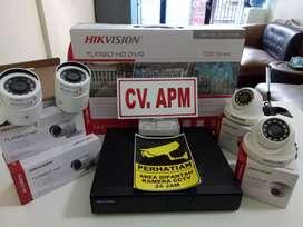 paket kamera cctv hikvision 2MP_4 kamera_4CH_500Gb Di Depok termurah.