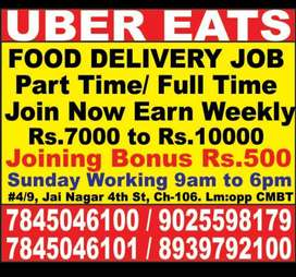 UBER EATS - Hiring for delivery boys