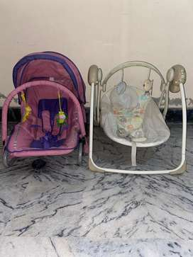 2 beautiful and very good condition baby swing n Rocker for sale