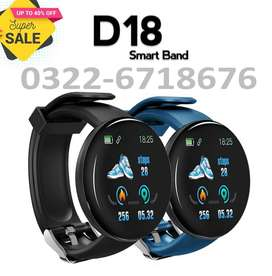 D18 Bluetooth Smart Watch IP67 Waterproof Sport Health Tracker