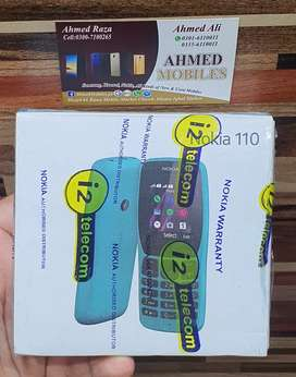 Nokia 110 dual sim Box pack 20 % off camera Memory card 1 year waranty