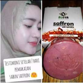 Sabun Saffron Aleya Asli BPOM Original Safron Wajah Pemutih