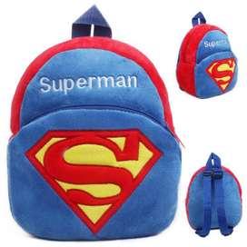 Tas Sekolah Anak Karakter Kartun Superman - Blue