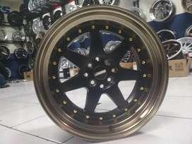 kredit velg racing ring 17 tipe power warna black bronze