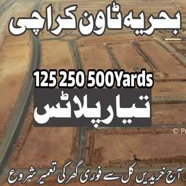 250Yards Ready to Build Plot in Bahria Town Karachi Buy & Build Today