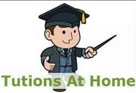 Home tutions from class 5th to 10th