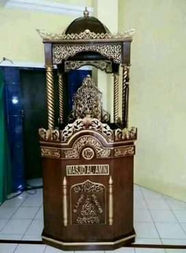 mimbar masjid mihrab model simple
