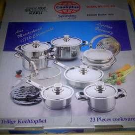 JUAL MURAH PANCI STAINLESS Soligen SSC 323 Cookware 23 Pcs Germany