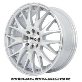 velg racing NIFTY JD123 HSR R17X75 H8X100-114,3 ET45 SMF