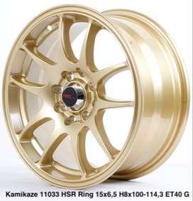 velg racing masa kini KAMIKAZE 11033 HSR R15X65 H8X100-114,3 ET40 GOLD