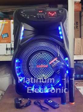 "Speaker Aktif 15"" Portable ASATRON TITANIUM 2 Mic Wireless Karaoke"