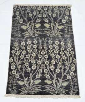 2.5x4 Feet Silk Flower Pure Hand-knotted Oriental Area Rug for sale