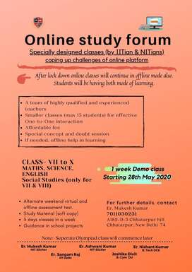 (15 days free classes)Online teaching by A team of IITian and NITians