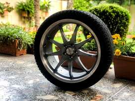 18 inch rims and tyres in perfect condition