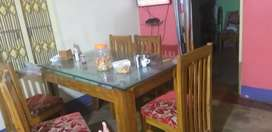 Woodem dining set,