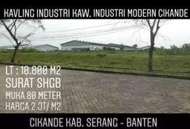 Tanah Modern Cikande 1.1 Ha Siap Bangun Di Kab Serang Banten