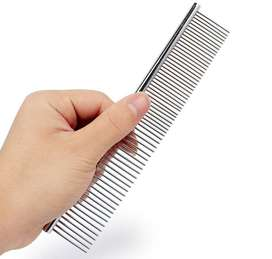 Steel Dog Cat Hair Comb Anti-Static Hair Shedding Comb Pet