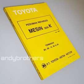 Buku Manual Pedoman Reparasi Toyota MESIN SERI K COROLA STARLET KIJANG