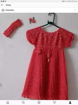 Ñew handmade crochet baby frock