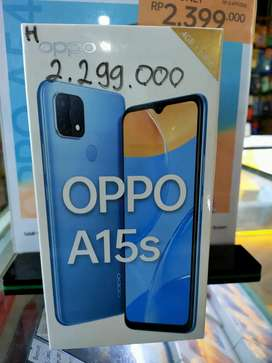 (BARU) OPPO A15s ram(4/64) garansi resmi