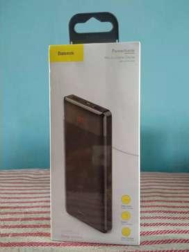 Powerbank Baseus 10.000mAH mini CU Digital warna hitam