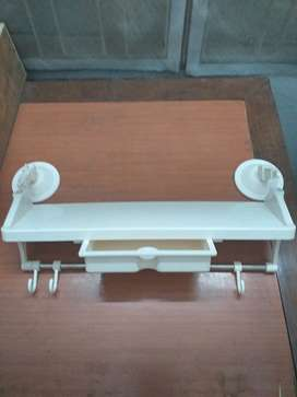 New Plastic Shelf Suction Type For Kitchen and Bathroom