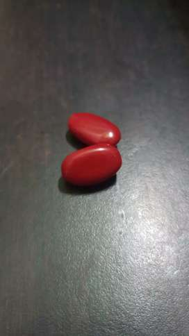 New orginal 2piece red coral stone