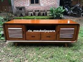 Meja tv minimalis bufet retro kayu jati tua