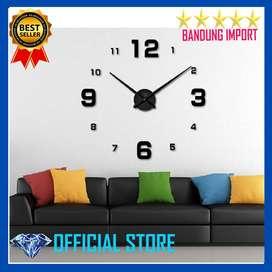 Jam Dinding Besar DIY Giant Wall Clock Quartz 80-130cm