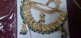 Jadau necklace with ring