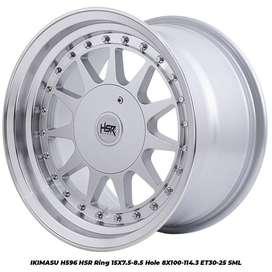 Harga velg IKIMASU H596 HSR R15X75/85 H8X100-114,3 ET30/25 SML