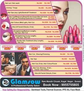 Summer Sale : Glamsow Salon Offers