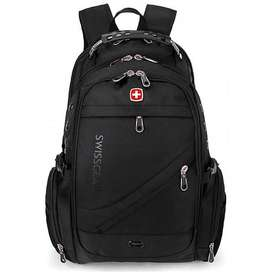 Swiss gear Laptop Backpack 8810 With USB & Aux Port Black - Back Pack