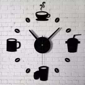 Jam dinding besar Mug cangkir akrilik diameter 40-70. COD