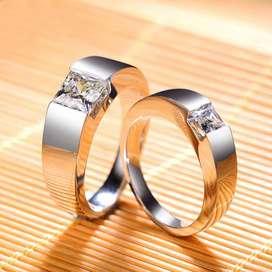Cincin Kawin/Couple Model Elegan Dengan Bahan Silver