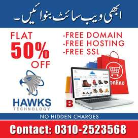 Your Own Online Shop in 1-day 50% Discount with Domain