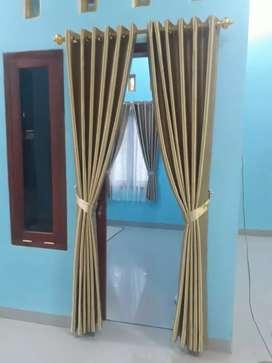 Tirai minimalis gorden hordeng sempurna desain murah
