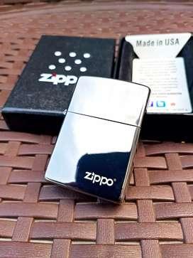 Korek api ZIPPO grade ori silver dark
