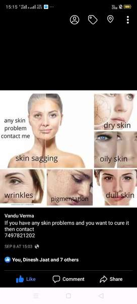 Skin brighting product with guarantee