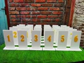 Jual Nomor Meja Akrilik Nomor Meja Cafe