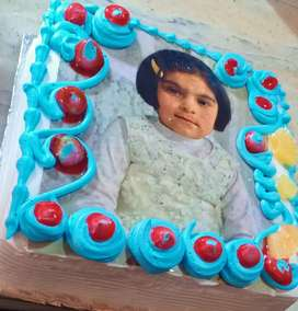 Picture Cake fresh cream cake with picture from ahmed super mart