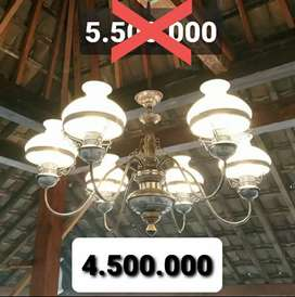 Produksi Lampu Gantung Antik Kalsik Kuningan Asli Joglo