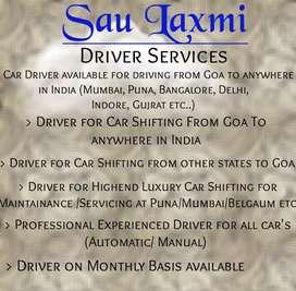 Hire a driver , rent driver, driver for long drives, Car shifting
