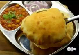 Per plate 20 rupees chole bhature