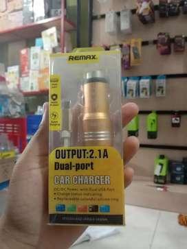 PROMO KAK-SAVER CHARGER CAS TC MOBIL REMAX 2.1A 2 PORT USB + KABEL-OKE
