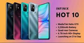 FLASH SALE INFINIX HOT 10 BOX PACK OFFICIAL WARRANTY PTA APPROVE