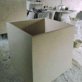 Pot Kotak Kubus Terrazzo