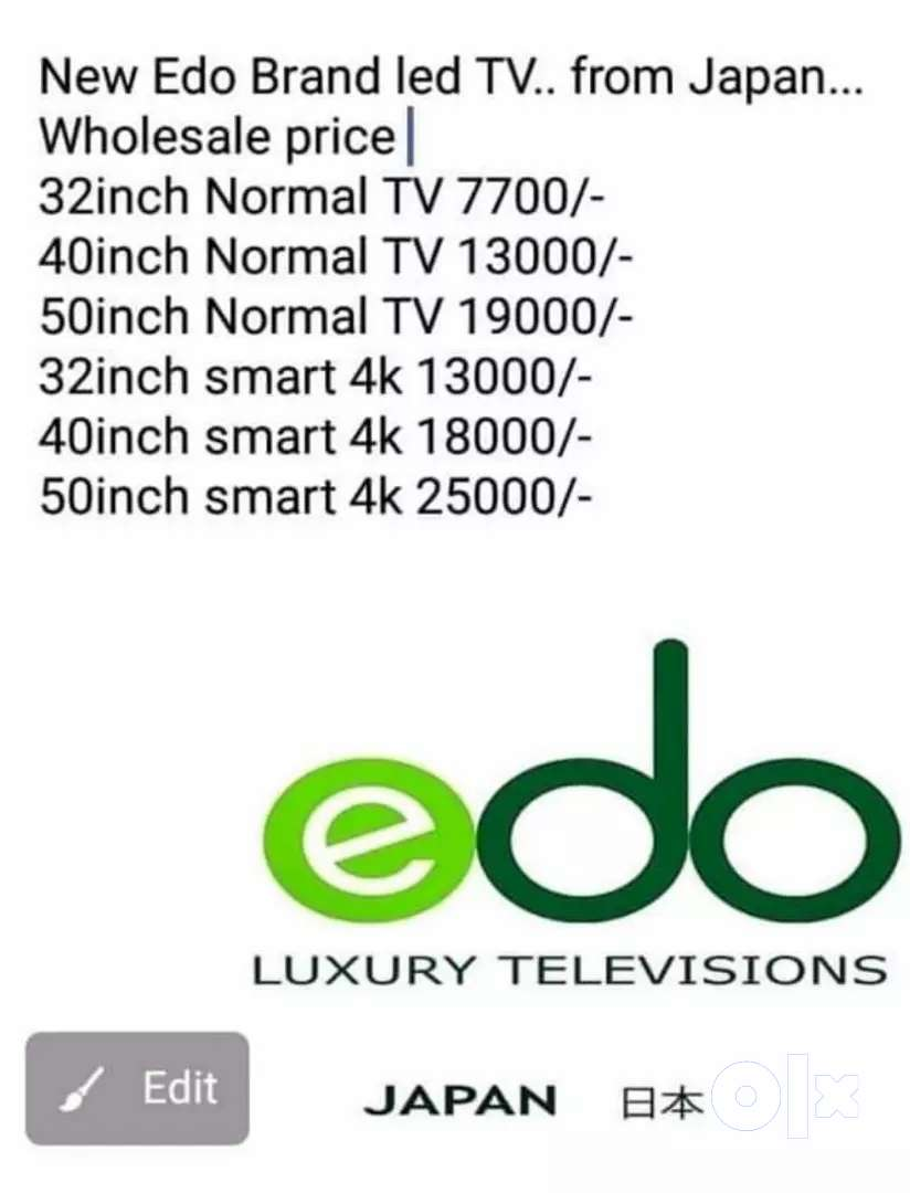 New 40 inch smart 4k lead tv for sale 0