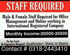 Only Fresh Staff Required