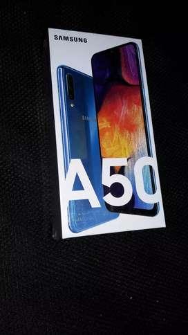 Samsung A50 (bukan A50S) 6/128  Biru/Blue. Baru (segel), murah, SEIN.